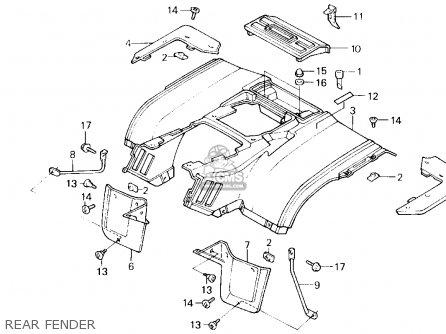 1986 Honda Fourtrax Parts Diagram
