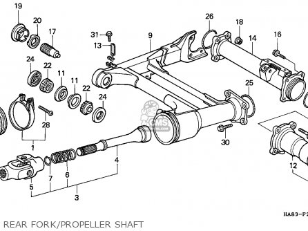 housing, rr axle for trx250 fourtrax 250 1986 (g) usa order at cmsnlhousing, rr axle photo the trx250 fourtrax 250 1986