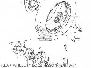 Wheel, Rear (mt3.50x17) photo