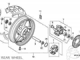 Wheel Sub Assy, Rr photo