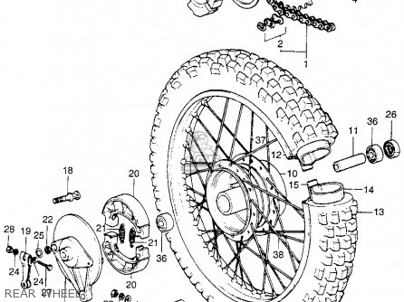 (42712169005) TUBE,REAR WHEEL