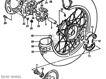 Suzuki 1988 Gn250j Gn250 Street Motorcycle Parts