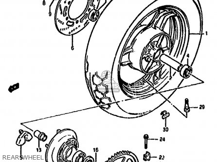 Spacer, Rear Axle, Left photo