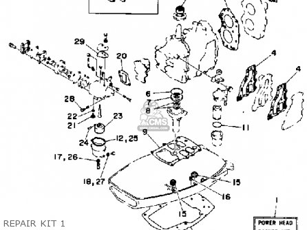 (6E7W009304) CARBURETOR REPAIR KIT
