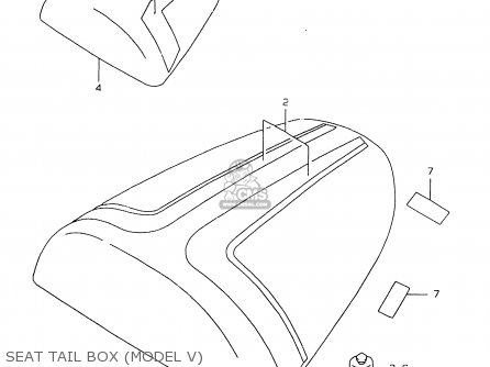 Box Assy, Seat Tail(white) photo