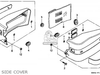 (83700-KR3-871ZF) COVER ASSY,*R201*