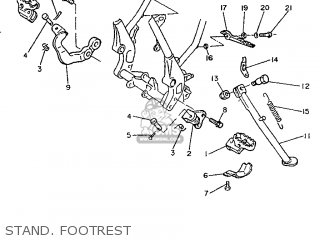 (4GVF74120033) BRACKET, FOOTREST 1