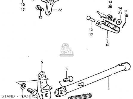 (43510-40201) HOLDER,FRONT FOOTREST,RIGHT