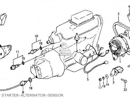 Alternator For Civic 1981 B 4dr1500 Kakhkl