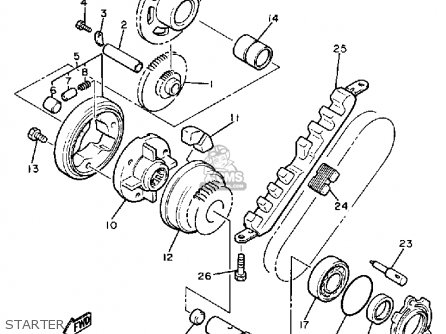 Starter Clutch Outer Assy photo