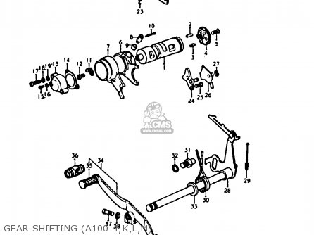 Suzuki A100 1978 -4 Gear Shifting a100-4 k l m