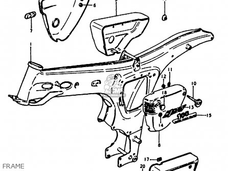 Suzuki A100-4 1978 c Frame