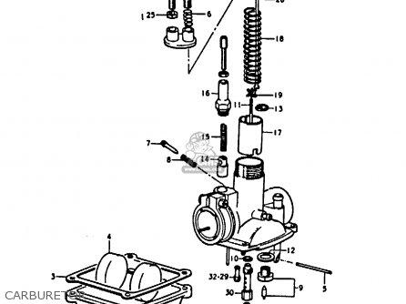 Suzuki A100-4 1978 c General Export e01 Carburetor