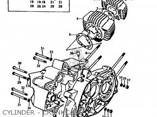 Suzuki A100-4 1978 c General Export e01 Cylinder - Crankcase