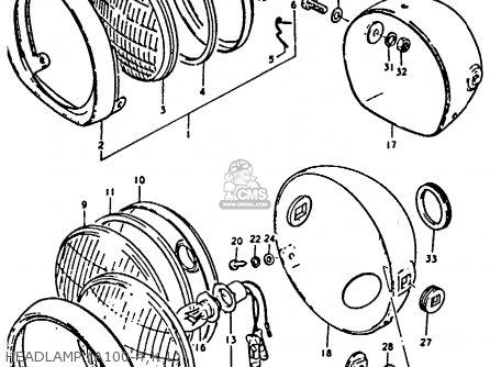 Suzuki A100 4 1978 C General Export E01 Parts Lists And Schematics