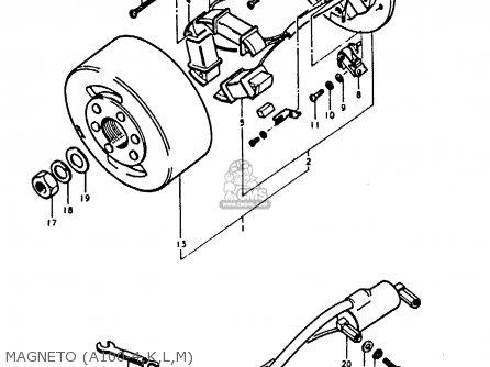 Suzuki A100-4 1978 c General Export e01 Magneto a100-4 k l m