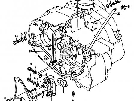 Suzuki A100-4 1978 c General Export e01 Oil Pump