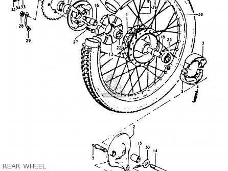 Suzuki A100-4 1978 c General Export e01 Rear Wheel