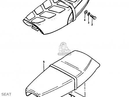 Suzuki A100-4 1978 c Seat