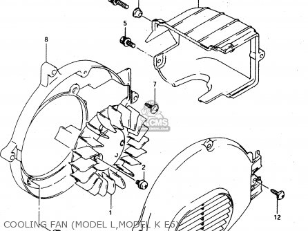 Suzuki Ad50 1990 l Cooling Fan model L model K E6