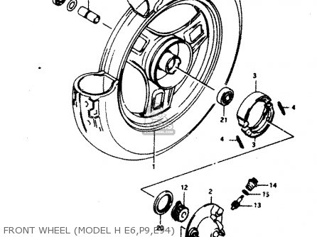 Suzuki Ad50 1990 l Front Wheel model H E6 p9 e94