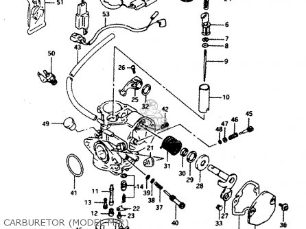 Suzuki Ad50 1994 wfr Carburetor model M r