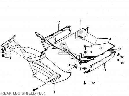 Suzuki Ad50 1994 wfr Rear Leg Shield e6