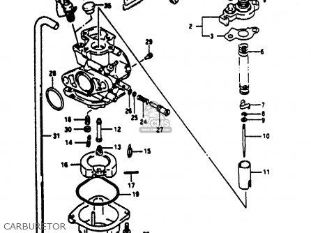 Suzuki Ae50 1991 m Australia e24 Carburetor