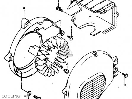 Suzuki Ae50 1991 m Australia e24 Cooling Fan