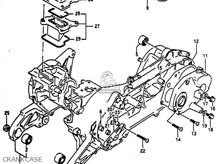 Suzuki Ae50 1991 m Australia e24 Crankcase