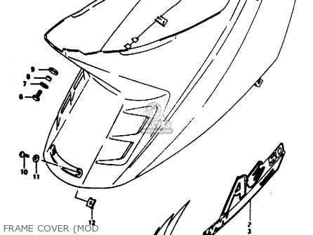 Suzuki Ae50 1991 m Australia e24 Frame Cover mod