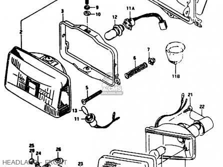 Suzuki Ae50 1991 m Australia e24 Headlamp - Front