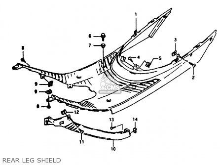 Suzuki Ae50 1991 m Australia e24 Rear Leg Shield