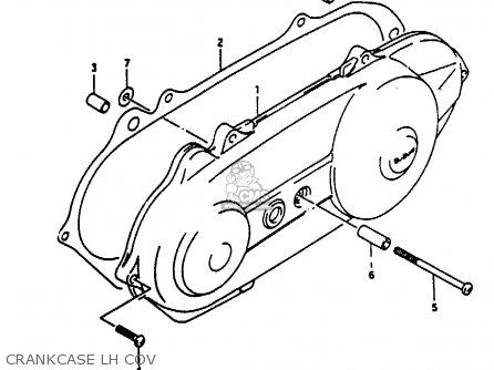 Suzuki Ae50 1991 m Crankcase Lh Cov