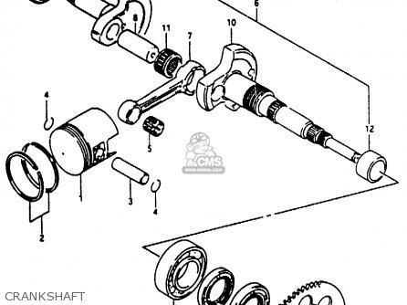 Suzuki Ae50 1991 m Crankshaft