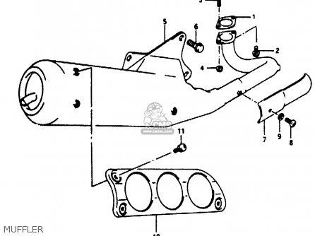 Suzuki Ae50 1991 m Muffler