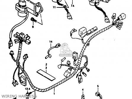 Suzuki Ae50 1991 m Wiring Harness