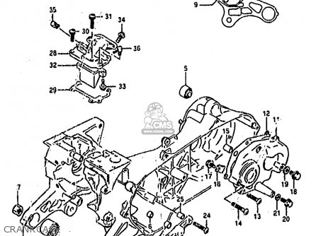 Suzuki Ah100 1994 r Crankcase