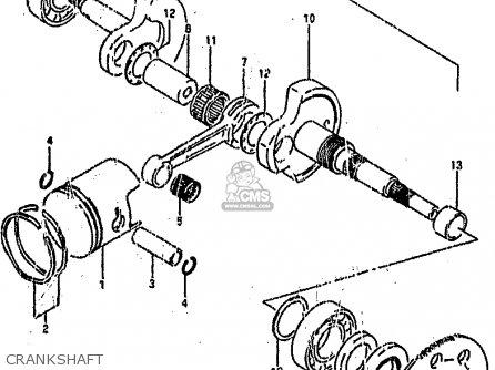 Suzuki Ah100 1994 r Crankshaft