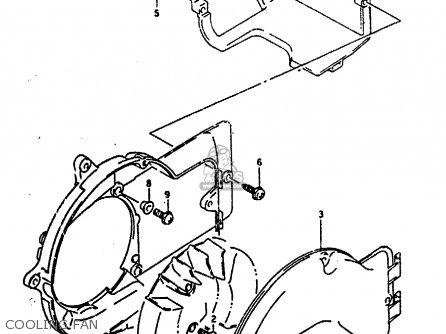 Suzuki Ah100 1994 r e02 E04 E22 E34 Cooling Fan