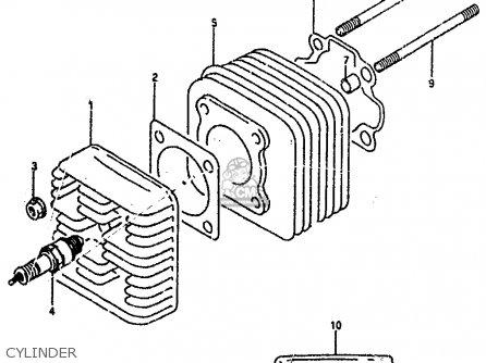 Suzuki Ah100 1994 r e02 E04 E22 E34 Cylinder