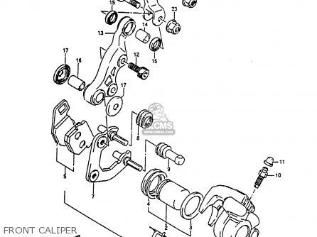 Suzuki Ah100 1994 r e02 E04 E22 E34 Front Caliper