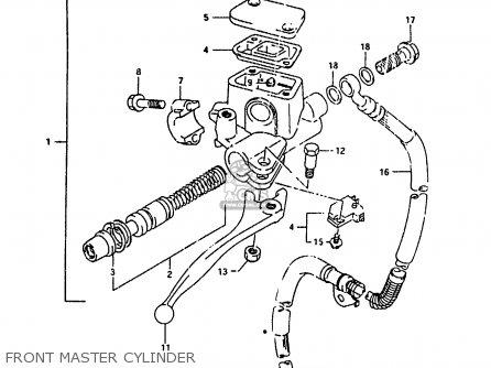 Suzuki Ah100 1994 r e02 E04 E22 E34 Front Master Cylinder