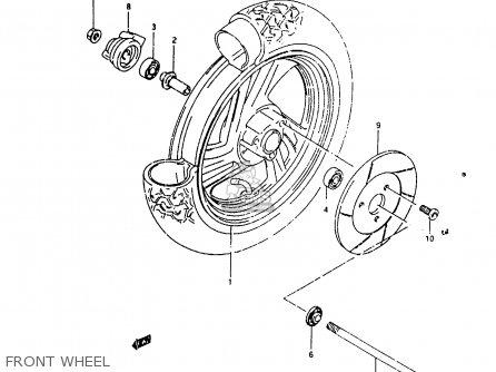 Suzuki Ah100 1994 r e02 E04 E22 E34 Front Wheel