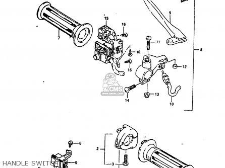 Suzuki Ah100 1994 r e02 E04 E22 E34 Handle Switch
