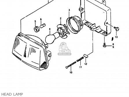 Suzuki Ah100 1994 r e02 E04 E22 E34 Head Lamp