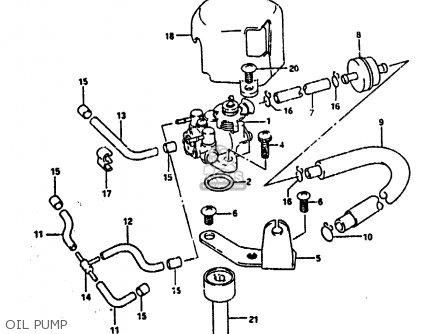 Suzuki Ah100 1994 r e02 E04 E22 E34 Oil Pump