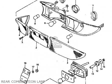 Suzuki Ah100 1994 r e02 E04 E22 E34 Rear Combination Lamp