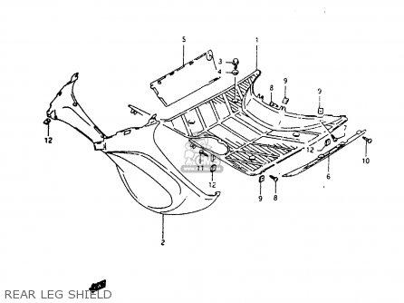 Suzuki Ah100 1994 r e02 E04 E22 E34 Rear Leg Shield