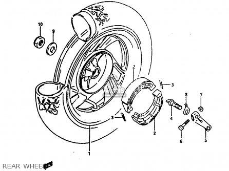 Suzuki Ah100 1994 r e02 E04 E22 E34 Rear Wheel